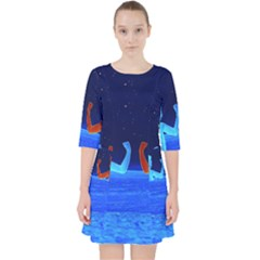 Space Boys  Pocket Dress