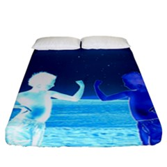 Space Boys  Fitted Sheet (california King Size)