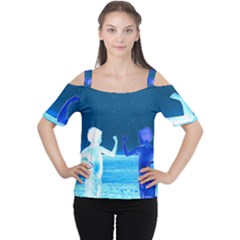 Space Boys  Cutout Shoulder Tee