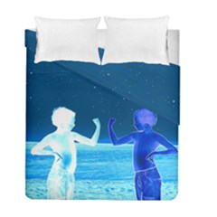 Space Boys  Duvet Cover Double Side (full/ Double Size) by Valentinaart
