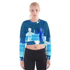 Space Boys  Cropped Sweatshirt