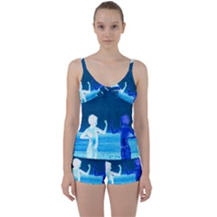 Space Boys  Tie Front Two Piece Tankini