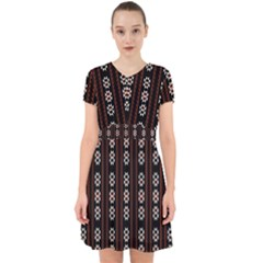 Folklore Pattern Adorable In Chiffon Dress