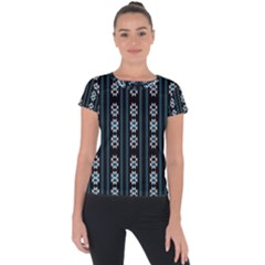 Folklore Pattern Short Sleeve Sports Top
