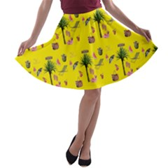 Aloha   Summer Fun 2b A Line Skater Skirt