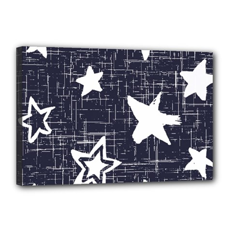 Star Space Line Blue Art Cute Kids Canvas 18  X 12  by Mariart