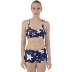 Star Space Line Blue Art Cute Kids Women s Sports Set