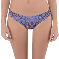 Silk Screen Sound Frequencies Net Blue Reversible Hipster Bikini Bottoms by Mariart