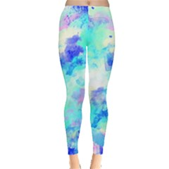 Transparent Colorful Rainbow Blue Paint Sky Leggings  by Mariart