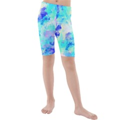 Transparent Colorful Rainbow Blue Paint Sky Kids  Mid Length Swim Shorts