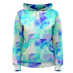 Transparent Colorful Rainbow Blue Paint Sky Women s Pullover Hoodie