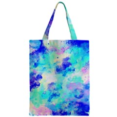 Transparent Colorful Rainbow Blue Paint Sky Zipper Classic Tote Bag by Mariart