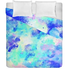 Transparent Colorful Rainbow Blue Paint Sky Duvet Cover Double Side (california King Size) by Mariart