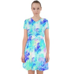 Transparent Colorful Rainbow Blue Paint Sky Adorable In Chiffon Dress by Mariart