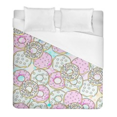 Donuts Pattern Duvet Cover (full/ Double Size) by ValentinaDesign