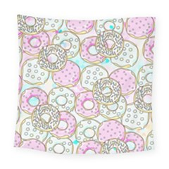Donuts Pattern Square Tapestry (large) by ValentinaDesign