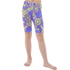 Donuts Pattern Kids  Mid Length Swim Shorts by ValentinaDesign