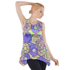 Donuts Pattern Side Drop Tank Tunic by ValentinaDesign