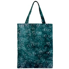 Heart Pattern Zipper Classic Tote Bag by ValentinaDesign