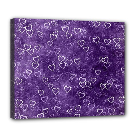 Heart Pattern Deluxe Canvas 24  X 20   by ValentinaDesign