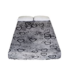 Heart Pattern Fitted Sheet (full/ Double Size) by ValentinaDesign