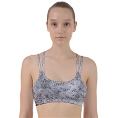 Heart Pattern Line Them Up Sports Bra by ValentinaDesign