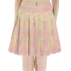 Heart Pattern Pleated Mini Skirt