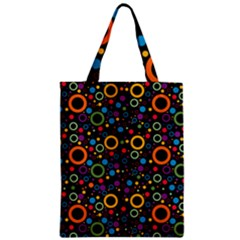 70s Pattern Zipper Classic Tote Bag by ValentinaDesign