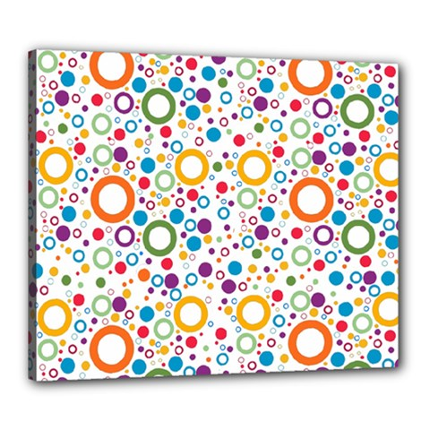 70s Pattern Canvas 24  X 20  by ValentinaDesign