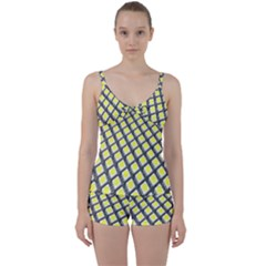 Wafer Size Figure Tie Front Two Piece Tankini