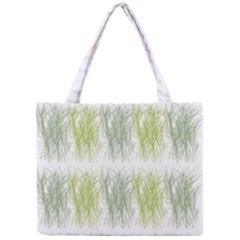 Weeds Grass Green Yellow Leaf Mini Tote Bag