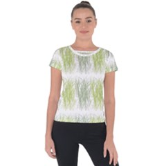Weeds Grass Green Yellow Leaf Short Sleeve Sports Top  by Mariart
