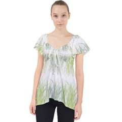 Weeds Grass Green Yellow Leaf Dolly Top