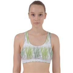 Weeds Grass Green Yellow Leaf Back Weave Sports Bra