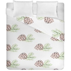 Pinecone Pattern Duvet Cover Double Side (california King Size) by Mariart