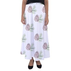 Pinecone Pattern Flared Maxi Skirt by Mariart
