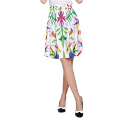 Peacock Rainbow Animals Bird Beauty Sexy A Line Skirt by Mariart