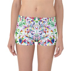 Peacock Rainbow Animals Bird Beauty Sexy Reversible Boyleg Bikini Bottoms by Mariart