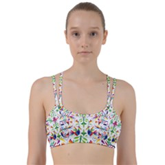 Peacock Rainbow Animals Bird Beauty Sexy Line Them Up Sports Bra by Mariart