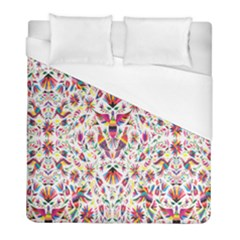 Peacock Rainbow Animals Bird Beauty Sexy Flower Floral Sunflower Star Duvet Cover (full/ Double Size) by Mariart