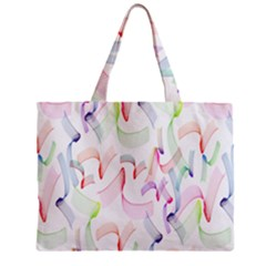 Rainbow Green Purple Pink Red Blue Pattern Zommed Zipper Mini Tote Bag by Mariart