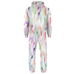 Rainbow Green Purple Pink Red Blue Pattern Zommed Hooded Jumpsuit (men)  by Mariart