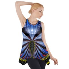 Illustration Robot Wave Side Drop Tank Tunic