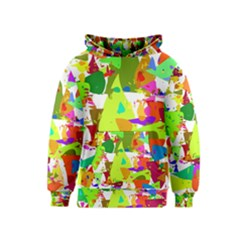 Colorful Shapes On A White Background                             Kid s Pullover Hoodie by LalyLauraFLM