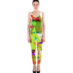 Colorful Shapes On A White Background                             Onepiece Catsuit by LalyLauraFLM