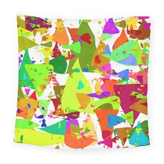Colorful Shapes On A White Background                            Square Tapestry by LalyLauraFLM