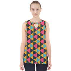 Triangles Pattern                           Cut Out Tank Top