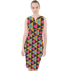 Triangles Pattern                             Midi Bodycon Dress by LalyLauraFLM