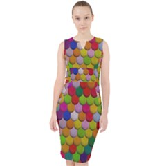 Colorful Tiles Pattern                             Midi Bodycon Dress