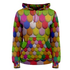 Colorful Tiles Pattern                           Women s Pullover Hoodie by LalyLauraFLM
